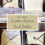 How To Make A Leather Business Card Holder