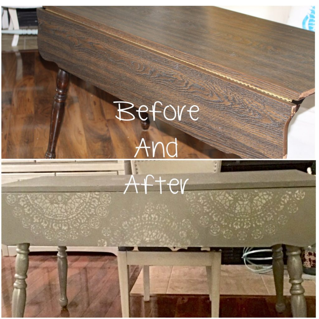Thrift_Store_Decor_Stenciled_Table