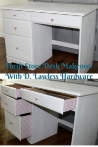Thrift Store Desk Makeover With D. Lawless Hardware