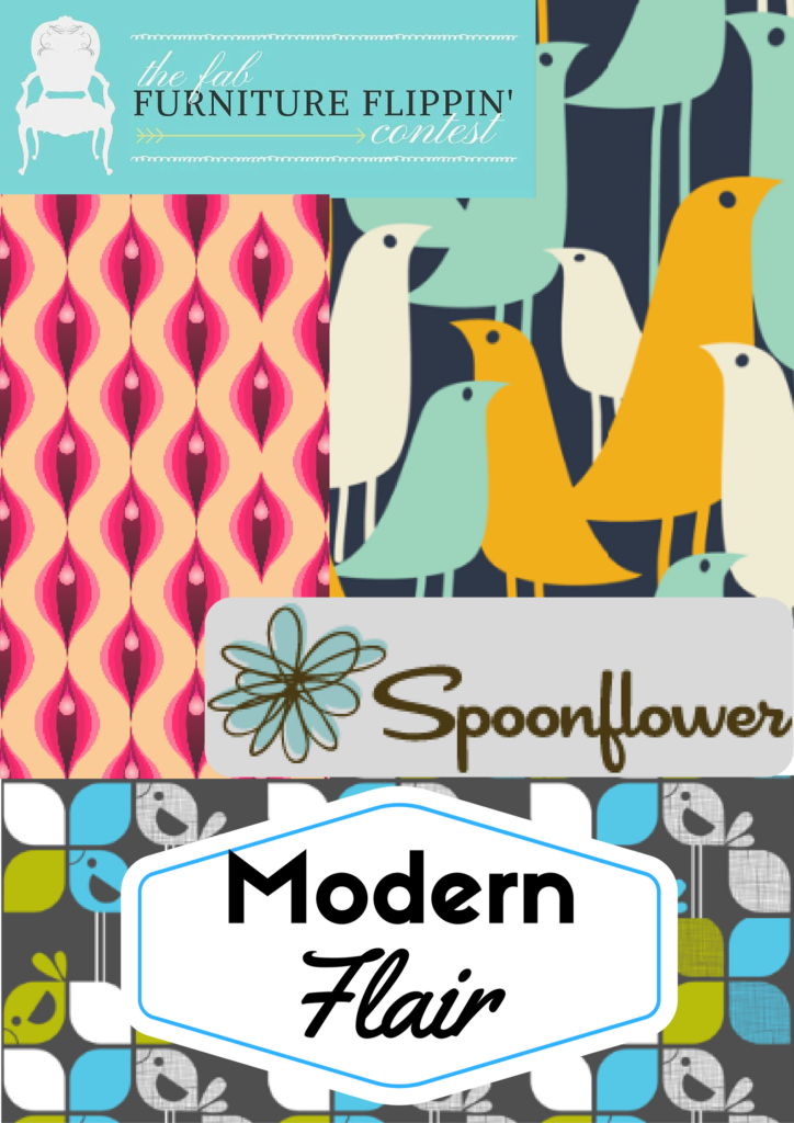 Fab Furniture Flippin Contest September Spoonflower Our Crafty Mom
