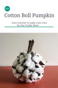 How to Make A Cotton Boll Pumpkin