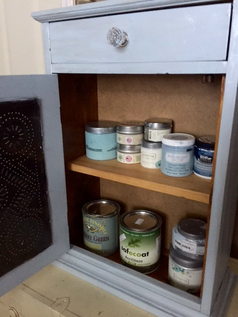 thrift store upcycle yard sale cabinet makeover our crafty mom