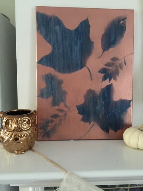 Fall leaf canvas wall art Our Crafty Mom