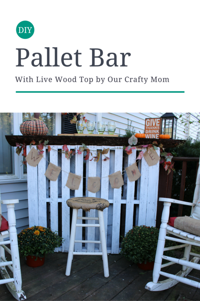 DIY Live Wood Pallet Bar Our Crafty Mom