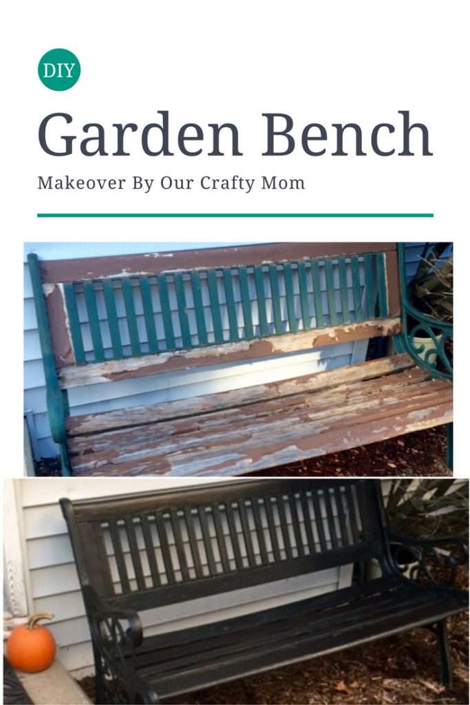 Furniture Refresh Garden Bench Makeover Our Crafty Mom