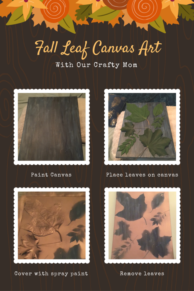 Fall Leaf Canvas Art Our Crafty Mom