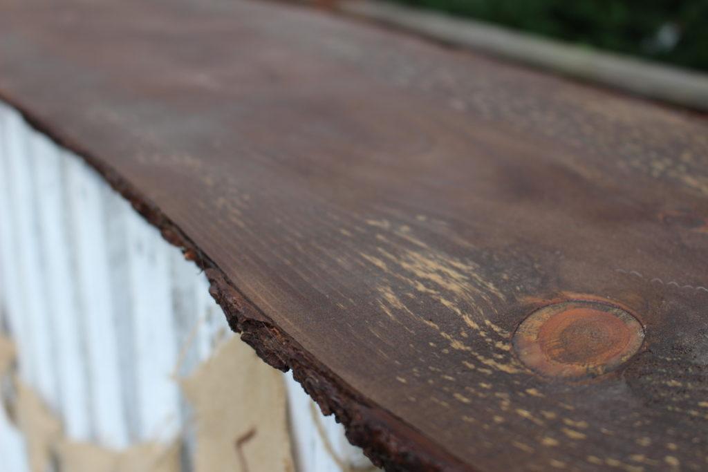 DIY Live Wood Top Pallet Bar Our Crafty Mom