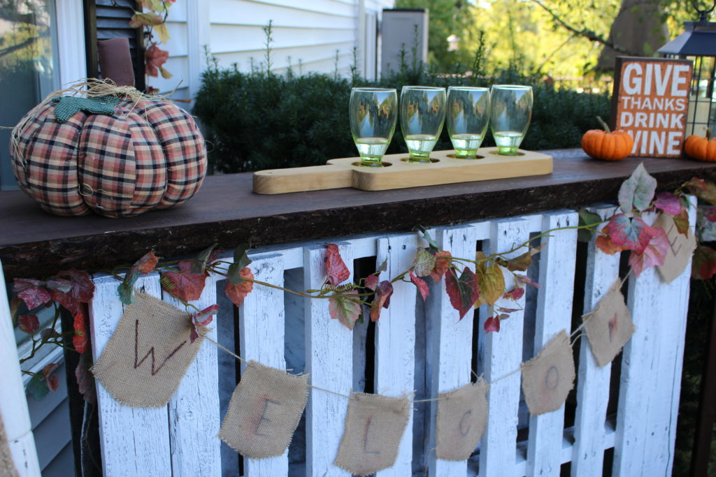 DIY Live Wood Top Pallet Bar Our Crafty Mom