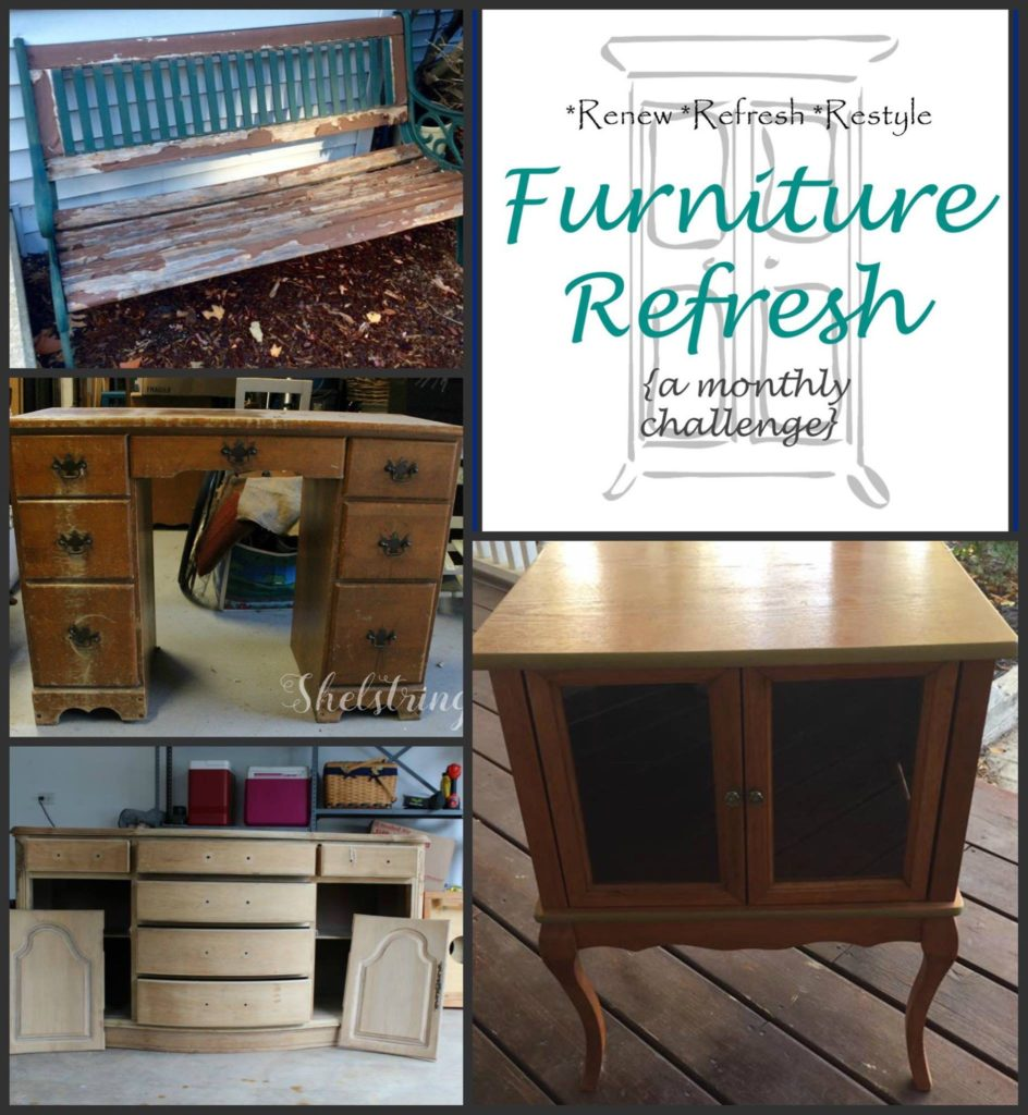 Furniture refresh Garden Bench Makeover Our Crafty Mom
