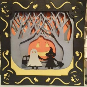 Halloween Card using Cricut Our Crafty Mom