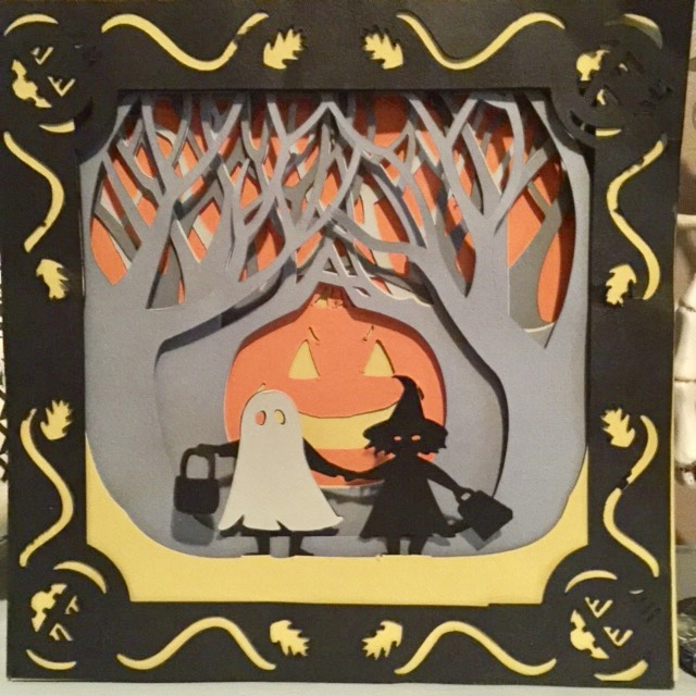 Halloween Card using Cricut Our Crafty Mom