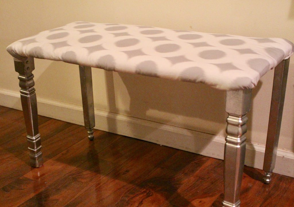 DIY MODERN FLAIR DINING ROOM BENCH OUR CRAFTY MOM