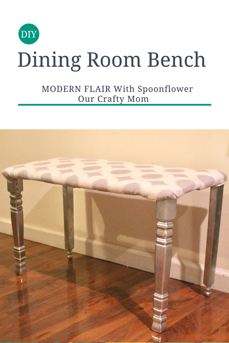 DIY Modern FLAIR DINING ROOM BENCH