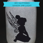 DIY Glittered Mason Jar Light & A Giveaway