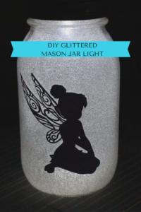 DIY Glittered Mason Jar Light & A Giveaway Our Crafty Mom