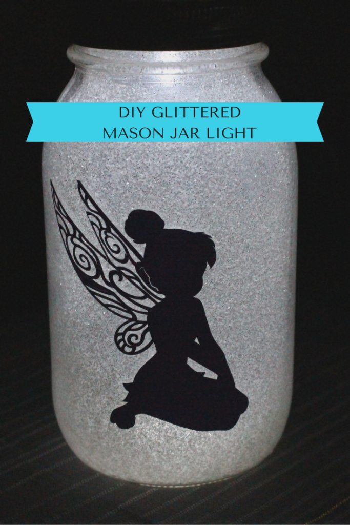 DIY Glittered Mason Jar Light & A Giveaway Our Crafty Mom