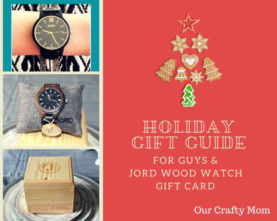 Gift Guide For Guys & JORD Wood Watch Gift Card Our Crafty Mom
