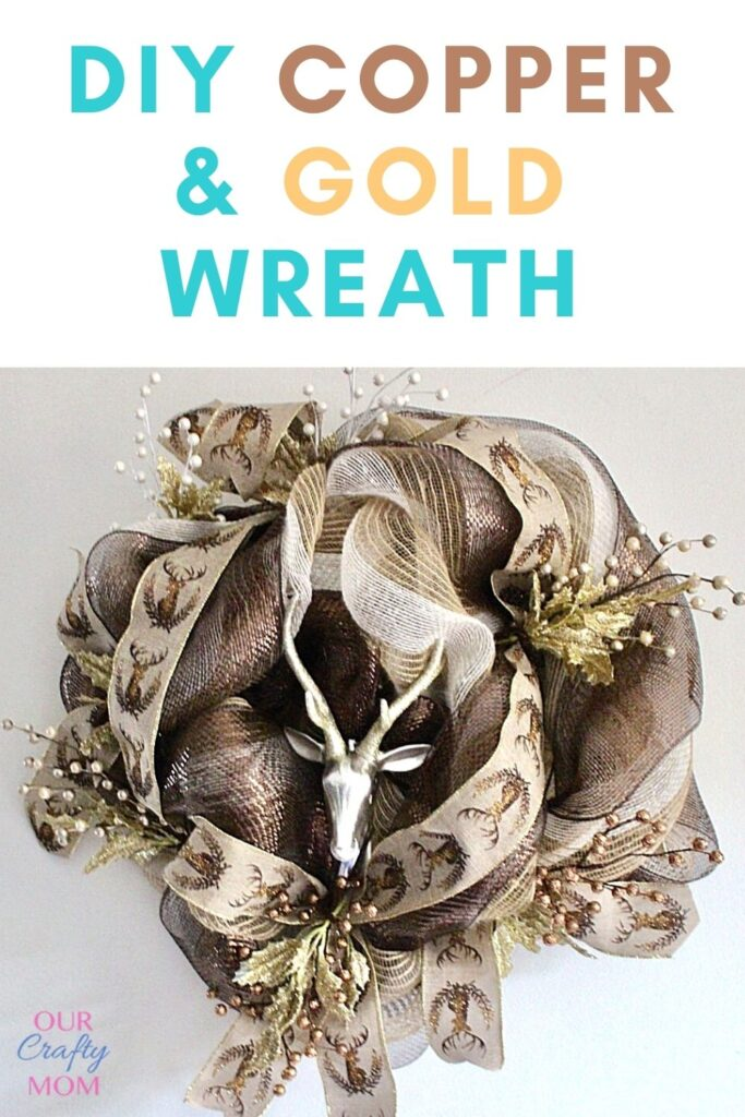 Diy copper & gold wreath