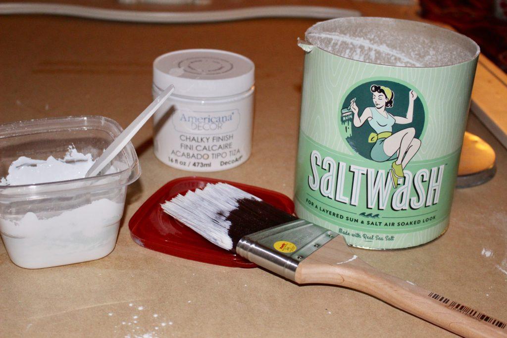 Furniture Refresh DIY Mirror Turned Chalkboard With Saltwash Our Crafty Mom
