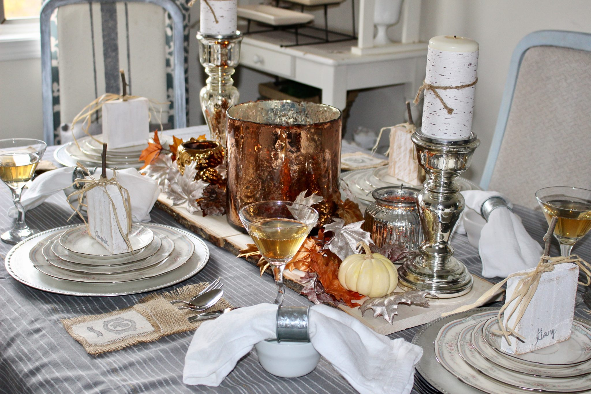 Elegant Thanksgiving Tablescape Our Crafty Mom
