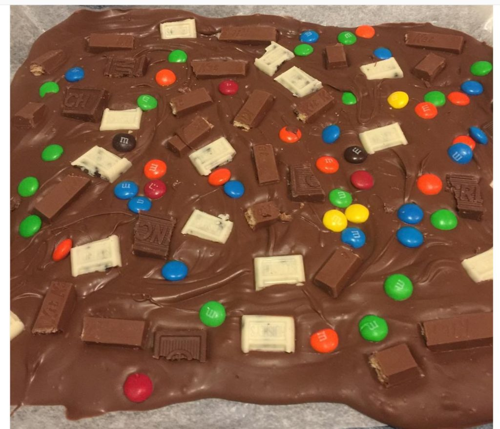 Make Candy Bark With Halloween Candy Our Crafty Mom