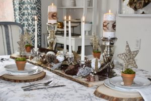 Silver and Gold Christmas Tablescape
