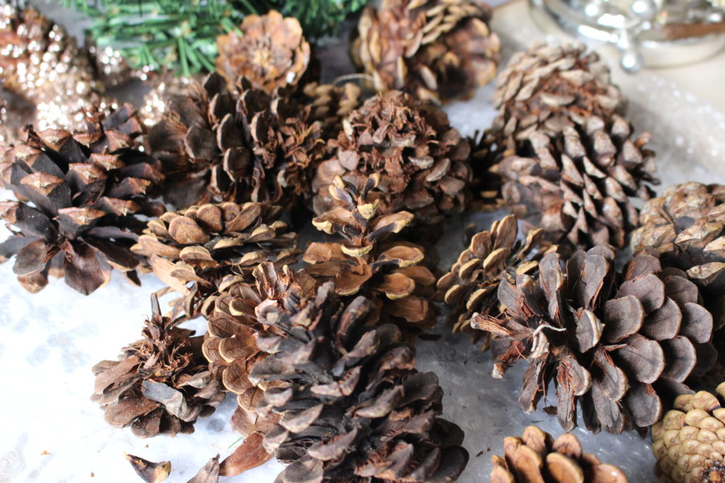 How To Make A Christmas Pinecone Kissing Ball Our Crafty Mom