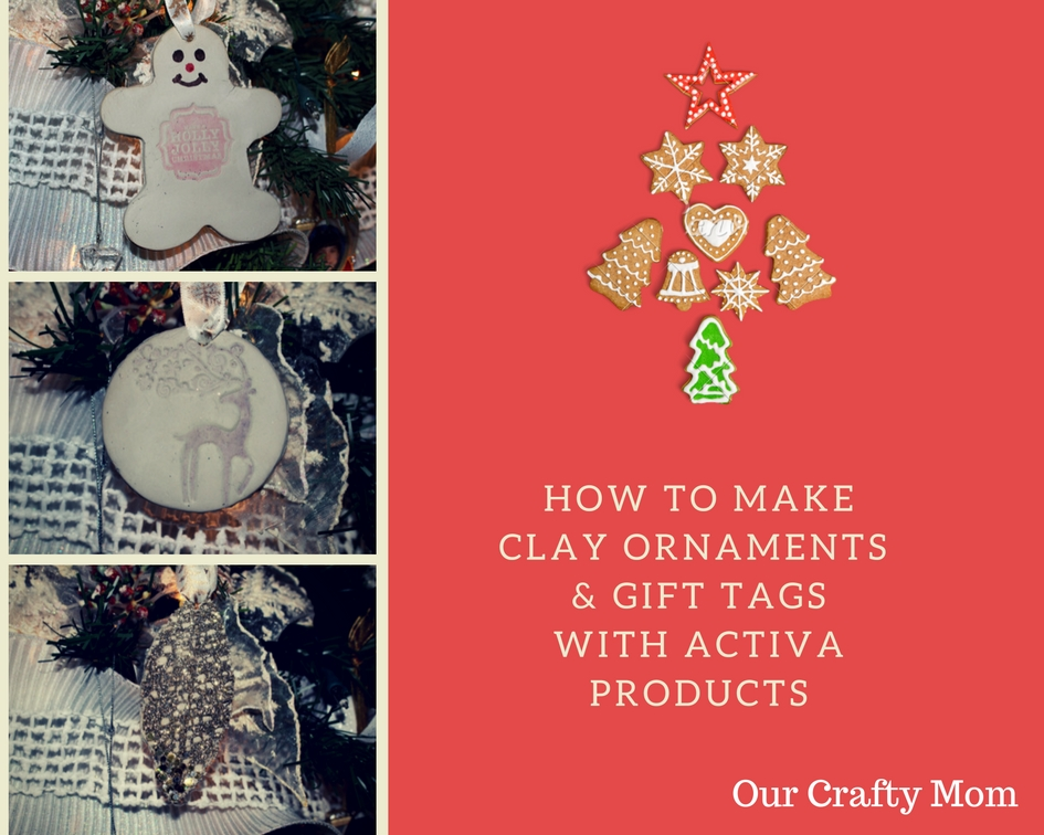 how to make clay ornaments our crafty mom