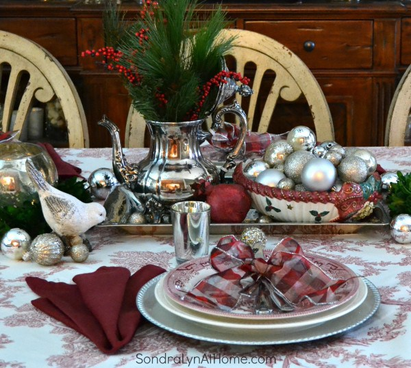 12 Days of Christmas Blog Hop-Christmas Tablescapes Our Crafty Mom