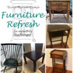 Furniture Refresh-Side Table Makeover With Country Chic Paint