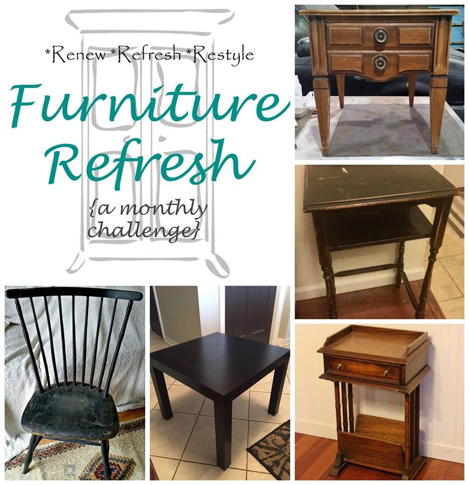 Furniture Refresh Side Table Makeover