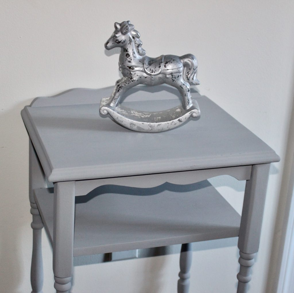 Furniture Refresh Side Table Makeover With Country Chic Paint Our Crafty Mom