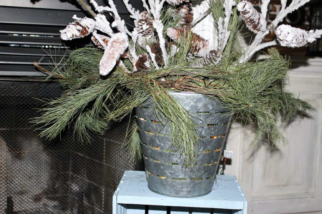 Winter Decorating Ideas With Olive Buckets Our Crafty Mom