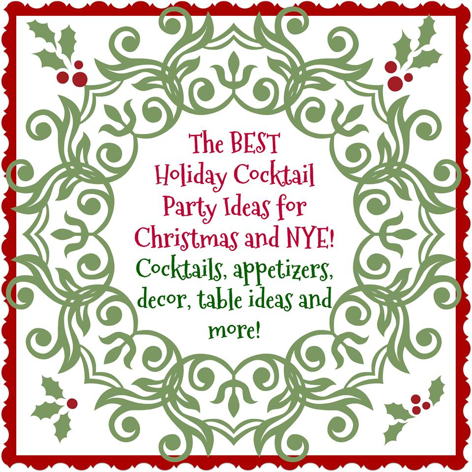 Holiday Cocktail Party Ideas Blog Hop Our Crafty Mom
