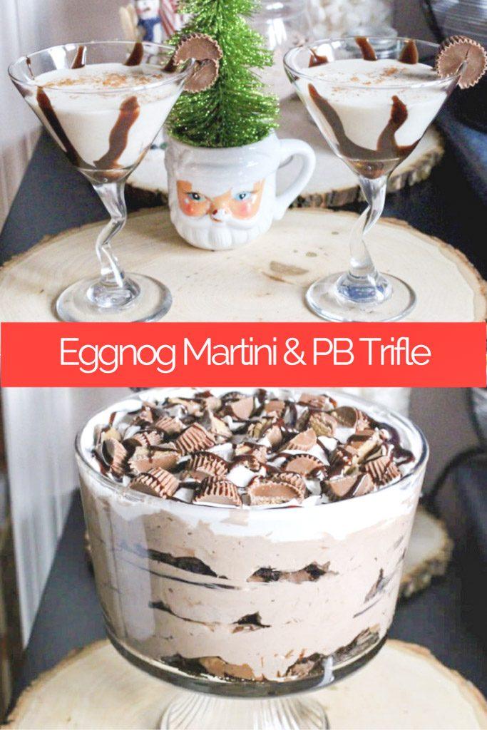 trifle and martini