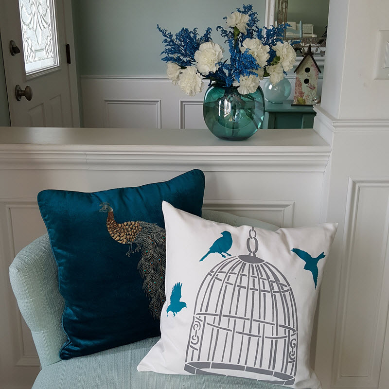 How To Stencil A Pillow-Quick And Easy Tutorial + $50 Giveaway Our Crafty Mom