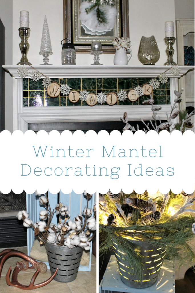 Winter White Mantel Decorating Ideas Our Crafty Mom
