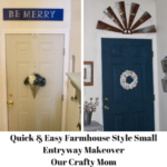 Quick & Easy Farmhouse Style Small Entryway Makeover