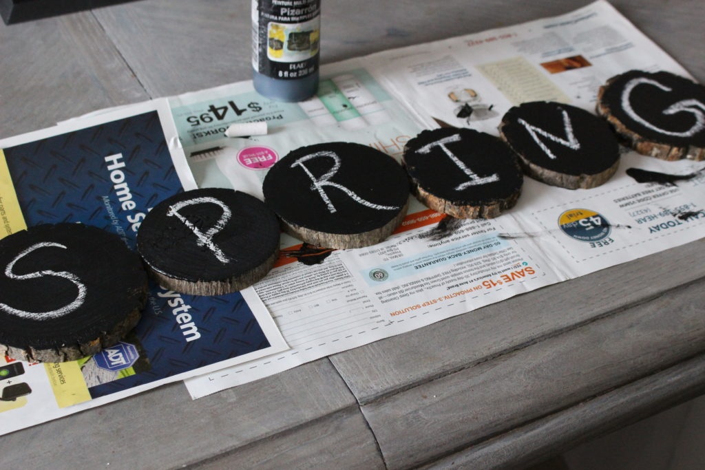 How to make a wood slice banner Our Crafty Mom