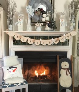 Winter White Mantel Decorating Ideas