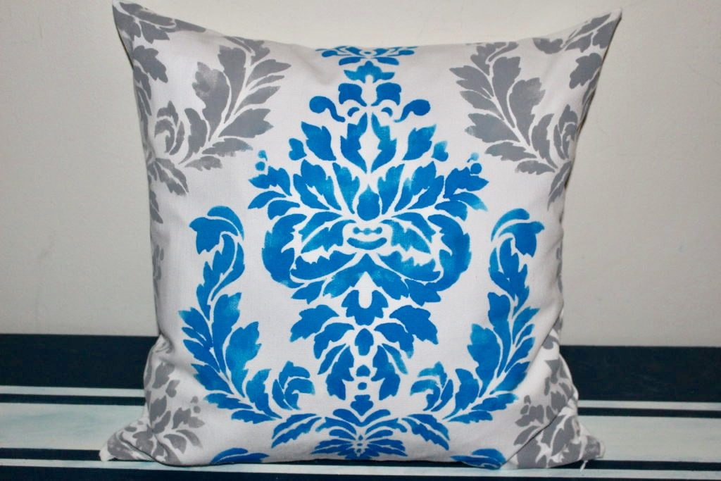 How To Stencil A Pillow-Quick And Easy Tutorial & $50 Giveaway Our Crafty Mom