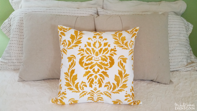How To Stencil A Pillow Our Crafty Mom