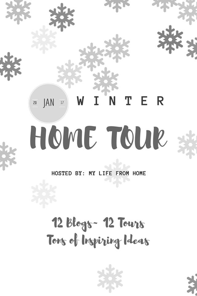 Winter Home Tour Blog Hop Farmhouse Decor Our Crafty Mom