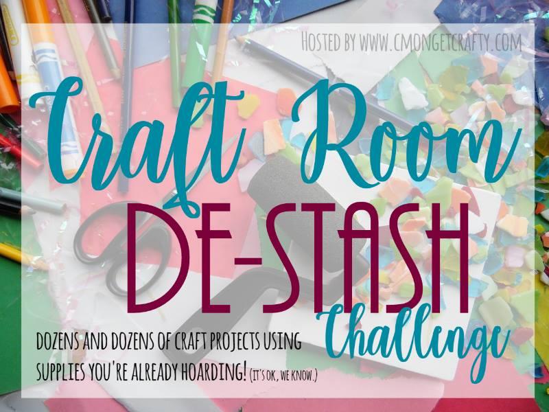 Monthly Craft Room De-Stash Challenge Our Crafty Mom