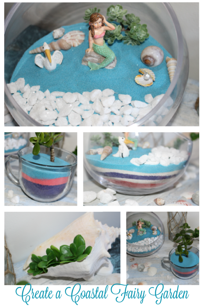 How To Make A Fun Beach Themed Fairy Garden Our Crafty Mom
