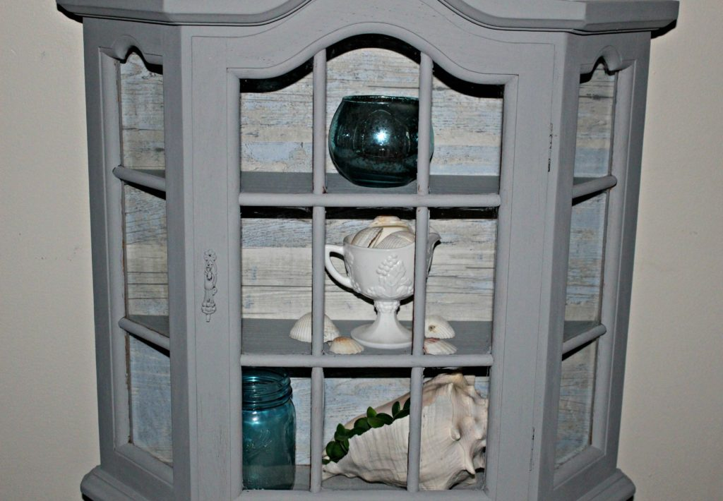 How To Transform An Outdated Curio Into A Coastal Beauty Our Crafty Mom