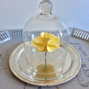 Movie Monday Challenge-Beauty and the Beast-DIY Flower Cloche