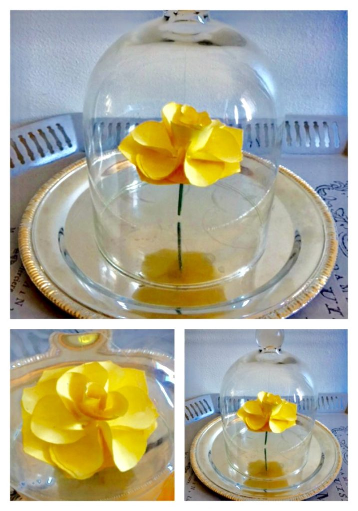 Movie Monday Challenge-Beauty and the Beast-DIY Flower Cloche Our Crafty Mom