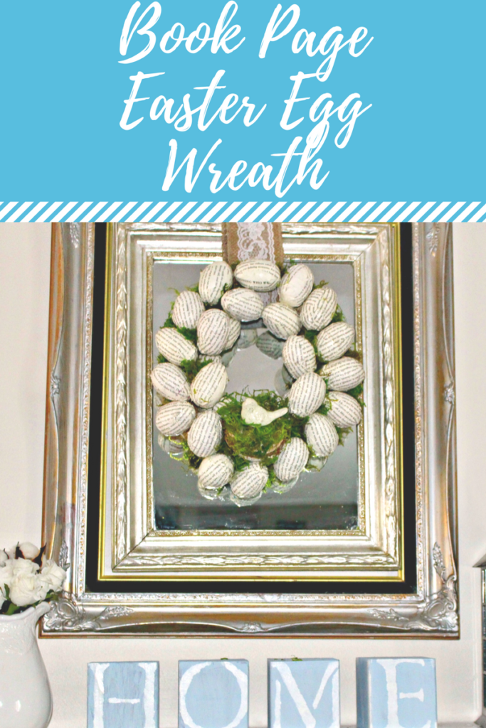 Create With Me Challenge Book Page Easter Egg Wreath Our Crafty Mom
