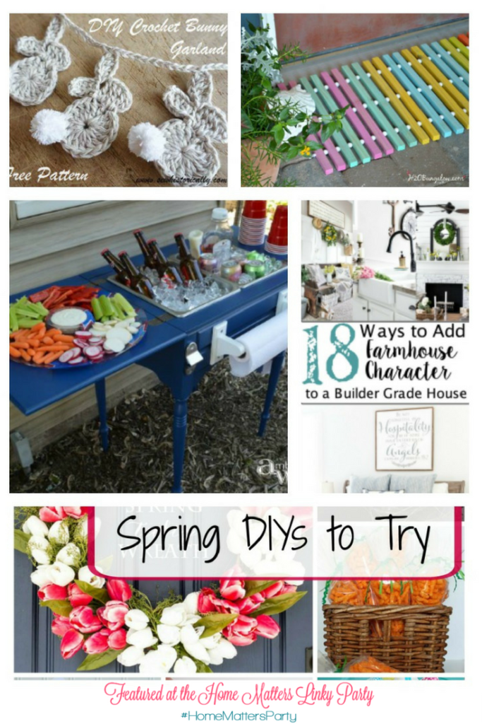 Come join the fun and link your blog posts at the Home Matters Linky Party 128. Find inspiration recipes, decor, crafts, organize -- Door Opens Friday EST.